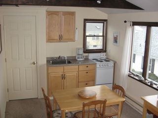 Rockport studio photo - kitchen and dining area