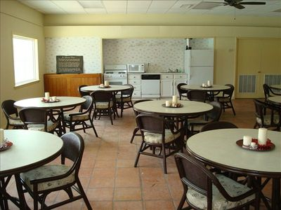 Shore Room center available for large groups, showers, family reunions.