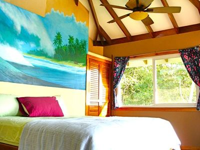 Master Bedroom Upstairs Main House w/ 180 Ocean View~