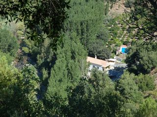 Genalguacil villa photo - Bird's eye view of the villa and pool in it's green surroundings