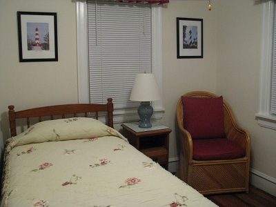 Bedroom has twin bed and next to bath. Great for child, teen or senior.