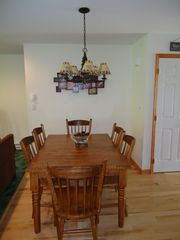 Lake Placid townhome photo - Dining Area Table Seats up to 8
