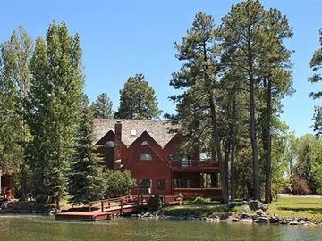 Lakeside estate rental - View of our home from the lake.