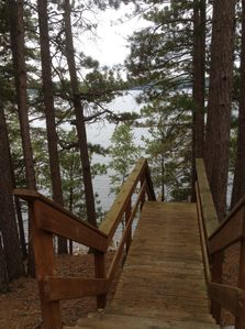 Stairs leading down to your private dock.