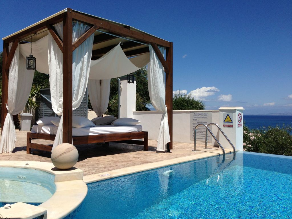 Luxury villa with a private pool in corfu homeaway for Villas with pools