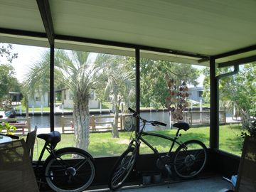 Two adult bicycles
