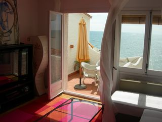 Sitges Town apartment photo - Apt4-TERRACE OF THE SEA: Living and view of the sea