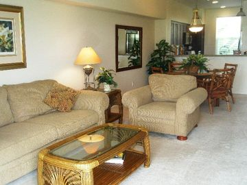 Waikoloa Beach Resort condo rental - Part of Living Room and Dining Area