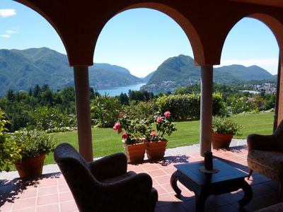 New!  - A fantastic lake-view getaway in private mediterrenean villa with pool