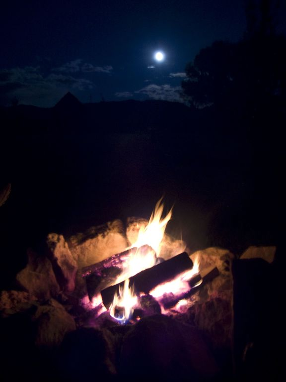 Enjoy campfires at night