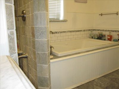 Your private sanctuary.  Full size jacuzzi tub with candles