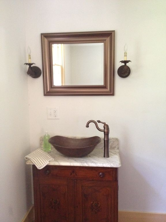 powder room on 2nd floor of house;