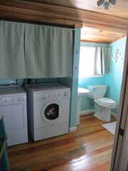 Pine Island cottage photo - half bath and laundry