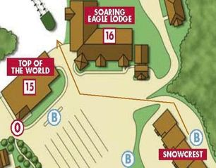 Snowshoe Mountain condo photo - Map to Eagle Lift. Shuttle is available.