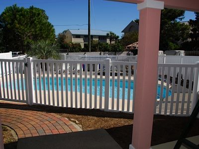 Fenced in Pool Area