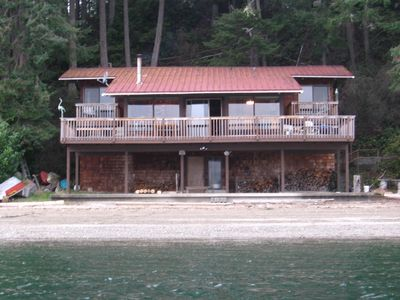 Harstine Island house rental - Our House and Deck are Right on the Water
