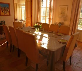 Aix-En-Provence house photo - the dining room with french doors out on to the gravelled terrace