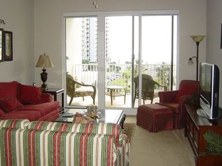 Destin condo photo - Cozy Living Area -a view of the Gulf & the Plasma