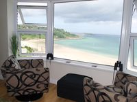 St Ives luxury beach apartment with sea views over St Ives, West Cornwall