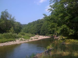 Claryville cabin photo - Nearby river for swimming