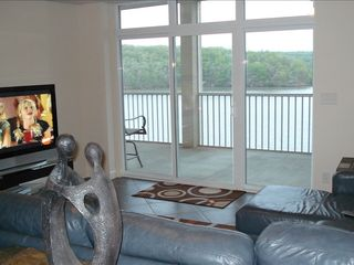 Osage Beach condo photo - Lake view from family room with 50' plasma tv