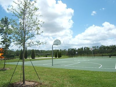 Tennis, basketball, beach volleyball, playground