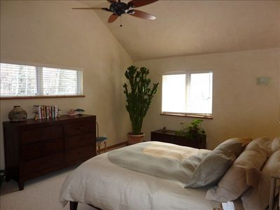 master bedroom I, includes bathroom with steam shower and sitting area with TV