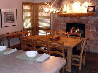 Deer Valley townhome photo - Fireside Dining (chairs for 8 plus 4 barstools)