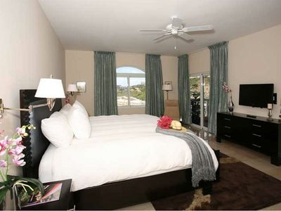 Master bedroom of condo rental in the caribbean