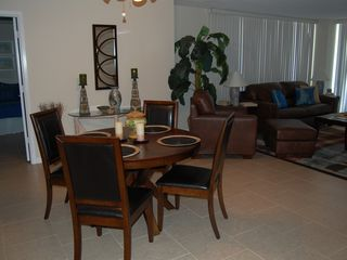 Daytona Beach condo photo - New Upscale Furniture in the Living and Dining Room