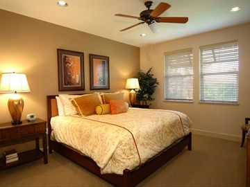 Spacious master bedroom with king-sized bed and walk-in closet.