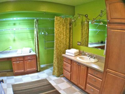 Master Bathroom and Large Dressing Area with Laundry