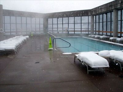 The Roof top Pool and hot tub at the cliff Club Spa yours to enjoy!