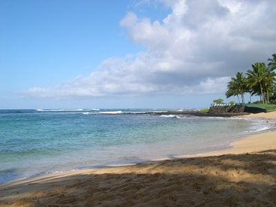 Poipu beach is great for swimming, snorkeling and surfing year round.