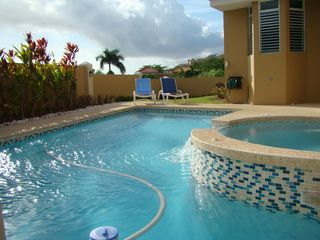 Humacao house photo - Our Pool&Spa, privacy wall around property for private family fun plenty of toys