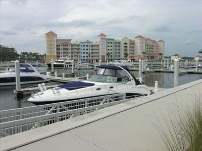 Our Boat Slip and View of Marina - Yacht Harbor Village