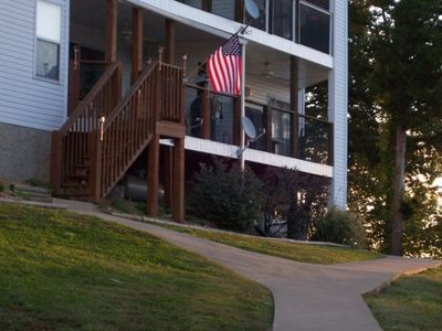 Osage Beach condo rental - Easy access to your dock from the lakeside deck.