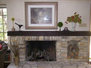 Carmel cottage photo - Original gas fireplace and mantle