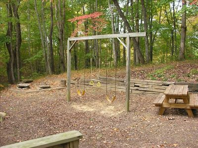 Play area and outdoor Fire Pit