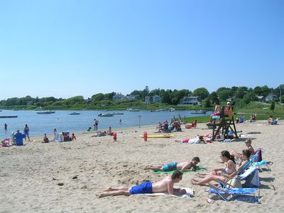 Nearby Oyster Pond Beach with Lifeguards, rest rooms and parking
