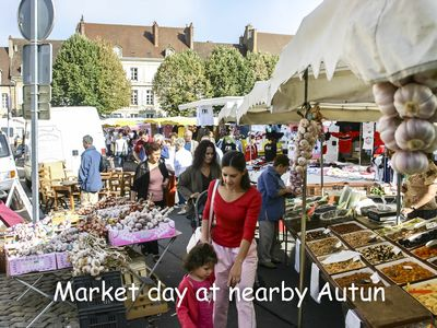 Nearby Autun market