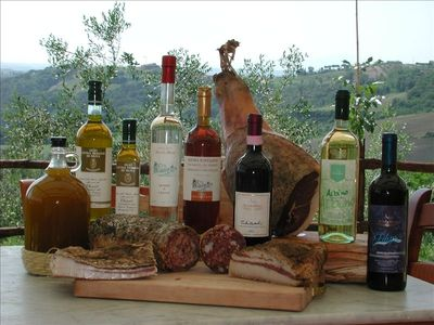 Typical tuscan and Chianti's products