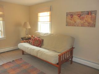 Rumney farmhouse photo - The guest room has a queen size bed, and views of the apple trees.