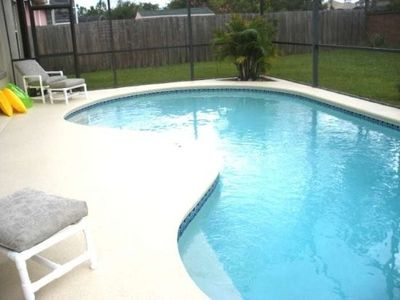 Nice private pool with privacy fence