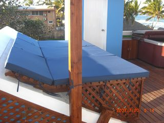 Sun Beds on Rooftop deck - June 2012 - Cabarete villa vacation rental photo