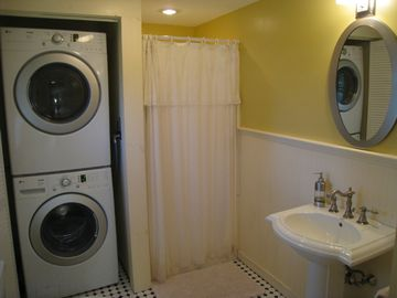 Brand New Washer & Dryer, Plus Shower