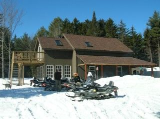 Mount Holly chalet rental - Exterior winter wrap around porch , Great for loading/unloading