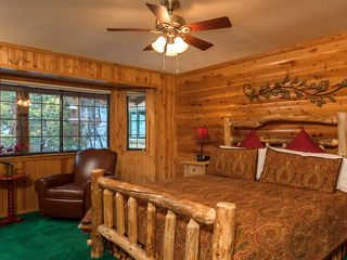 Bear Mountain cabin photo - Huge California King Bed with private bathroom attached to room.