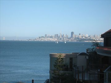 view of San Francisco skyline-seen from deck & 2nd bed rooms
