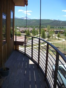 Amazing view of mighty Mount Sneffels over Ridgway from the balcony
